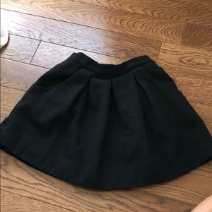 Black girls Zara wool skirt size 5/6